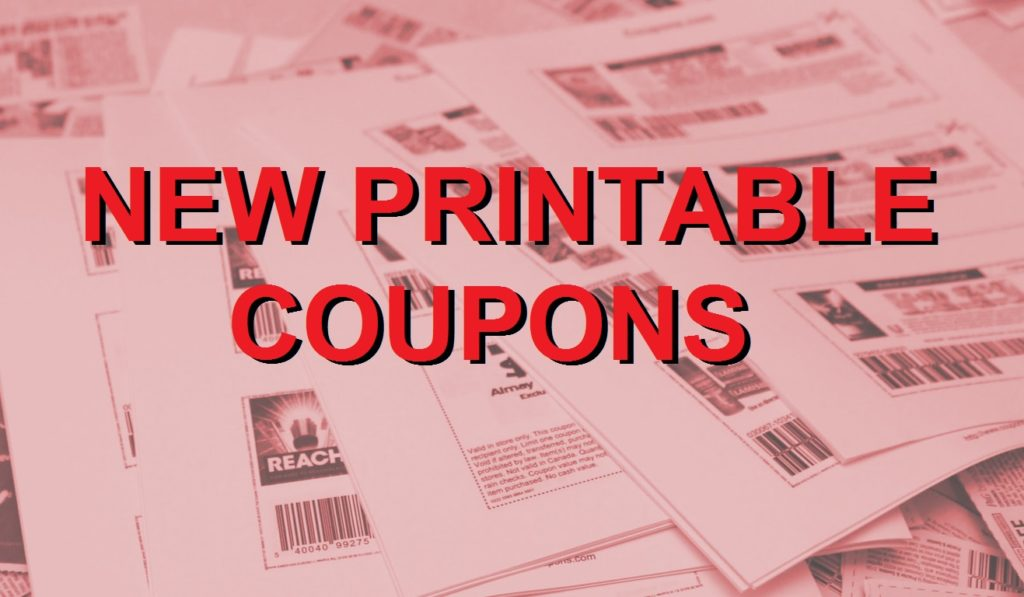 New Printable Coupons – 5/31/18