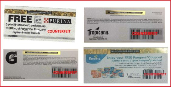 Coupon Counterfeiters Create Fake Counterfeit-Resistant Coupons