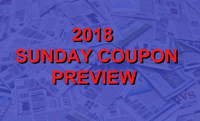 2018 Coupon Insert Schedule
